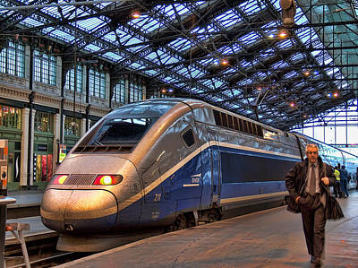 Tgv At The Train Station  Art Print by Paris  France