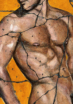 Male Painting - Thaddeus - Study No. 1 by Steve Bogdanoff