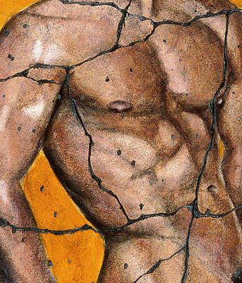 Naked Man Painting - Thaddeus - Study No. 2 by Steve Bogdanoff