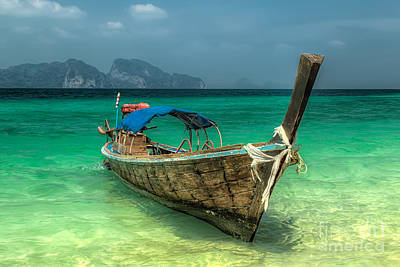 Thai Boat  Art Print by Adrian Evans