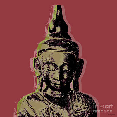 Digital Art - Thai Buddha #1 by Jean luc Comperat