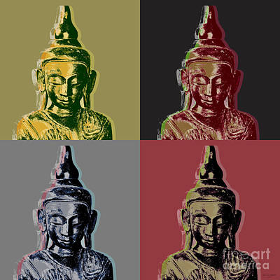 Digital Art - Thai Buddha by Jean luc Comperat