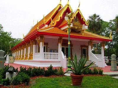 The Dalai Lama Photograph - Thai Buddhist Temple II by Buzz  Coe