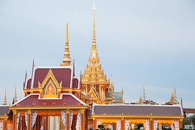 Thai Construction Design. Art Print by Vachiraphan Phangphan