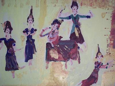 Art Print featuring the painting Thai Dance by Judith Desrosiers