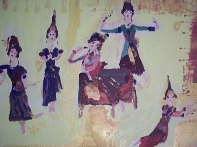 Thai Dance Art Print by Judith Desrosiers