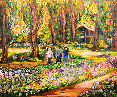 Painting - Thai Flower Garden by Jott DH
