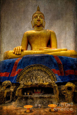 Golden Digital Art - Thai Golden Buddha by Adrian Evans