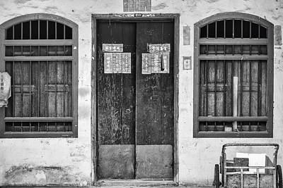 Thai House In Black And White Art Print