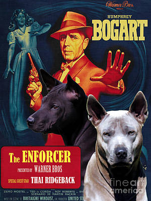 Painting - Thai Ridgeback Art Canvas Print - The Enforcer Movie Poster by Sandra Sij