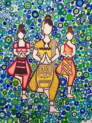 Thai Drawing - Thai Beauty by Tamara Fordham