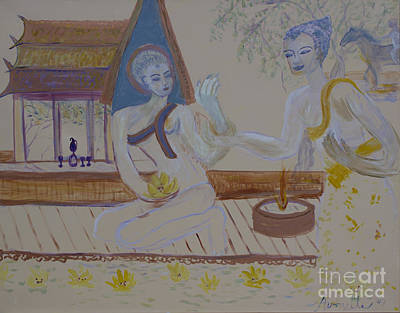 Art Print featuring the painting Thailand by Avonelle Kelsey