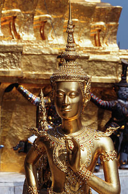 Large Format Photograph - Thailand, Bangkok, Gold Statue At Grand by Paul Souders
