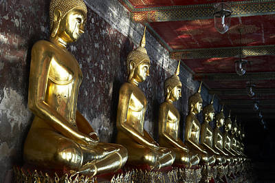 Thailand, Bangkok, Wat Suthat Buddhist Print by Tips Images