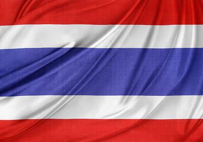 National Symbol Photograph - Thailand Flag by Les Cunliffe