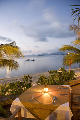 Tableclothes Photograph - Thailand, Koh Samui Island,view Of The by Tips Images