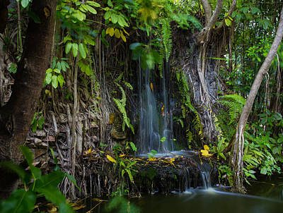 Art Print featuring the photograph Thailand Waterfall by Mike Lee