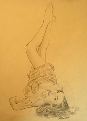 Musicians Drawings - Thalia Sodi by Bryan Bustard