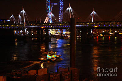 Photograph - Thames At Night by Doc Braham