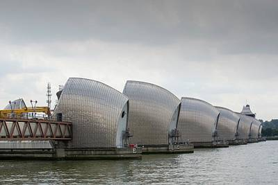 River Flooding Photograph - Thames Barrier by Ashley Cooper