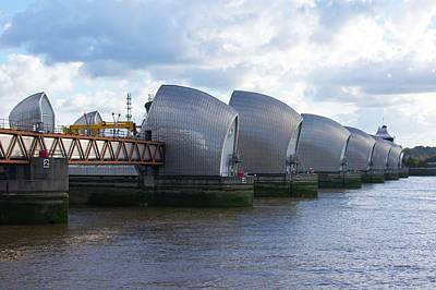 Flood Wall Art - Photograph - Thames Barrier by Mark Williamson