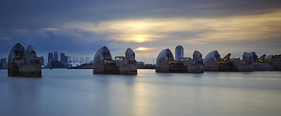 River Thames Photograph - Thames Barrier Panorama II by Matthew Train