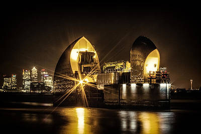 Floods Photograph - Thames Flood Barrier by Ian Hufton
