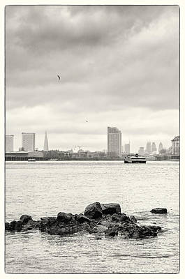 Photograph - Thames Foreshore - Greenwich - Towards The Shard by Lenny Carter