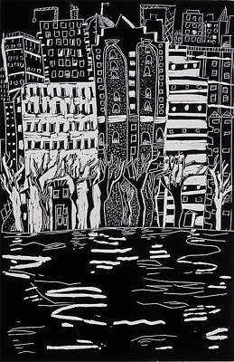 Animated Painting - Thames In Winter by Hilary Rosen