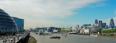 Photograph - Thames Panorama With London City Hall by Vlad Baciu