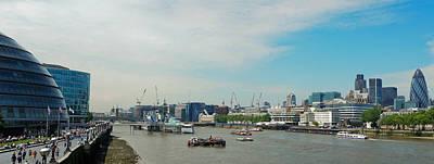 Photograph - Thames Panorama With London City Hall by Vlad Baciu