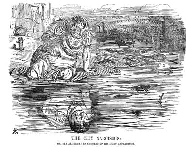 Painting - Thames Pollution, 1849 by Granger