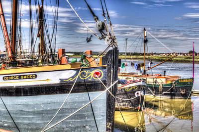 Thames Sailing Barges  Art Print by David Pyatt
