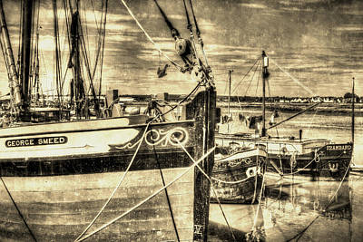 Caravaggio - Thames Sailing Barges Vintage by David Pyatt