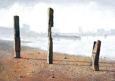 Thames Sentinels Art Print