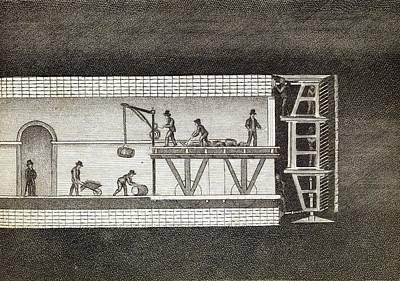Thames Tunnel Construction Art Print