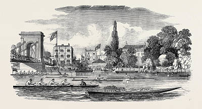 Chancellor Drawing - Thames Watermens Regatta, The Chancellors by English School