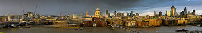 Thames With St Paul's Panorama Art Print