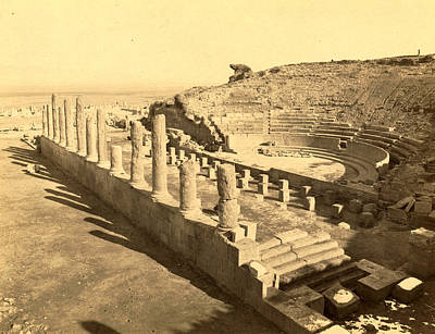 Berber Woman Photograph - Thamugas Roman Ruins, The Theater, Algiers, Neurdein by Litz Collection