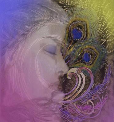 Mystical Women Mixed Media - Thanee's Dream by Andrea Ribeiro
