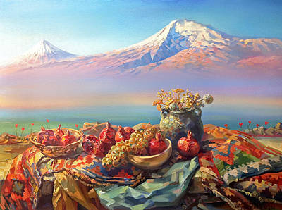 Painting - Thank You Ararat From Armenians by Meruzhan Khachatryan