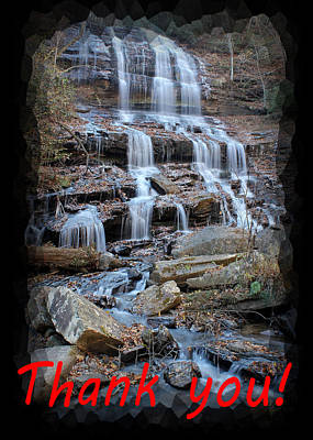 Photograph - Thank You Card With Waterfall by Joseph C Hinson Photography
