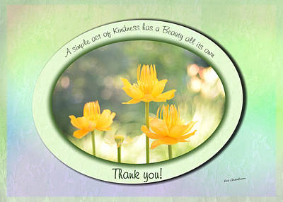 Digital Art - Thank You Flowers by Kae Cheatham