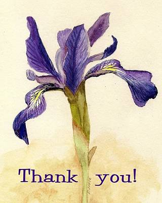 Painting - Thank You Iris  by Barbie Corbett-Newmin