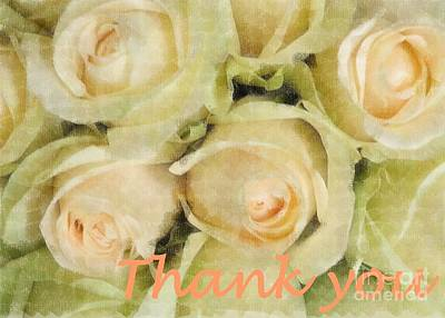 Photograph - Thank You Roses by Barbie Corbett-Newmin