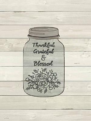 Gratitude Painting - Thankful by Jo Moulton