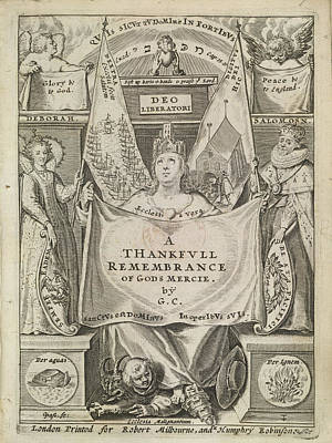 Works Of Mercy Photograph - Thankful Remembrance by British Library