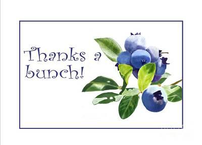 Digital Art - Thanks A Bunch Note Card by Joan A Hamilton