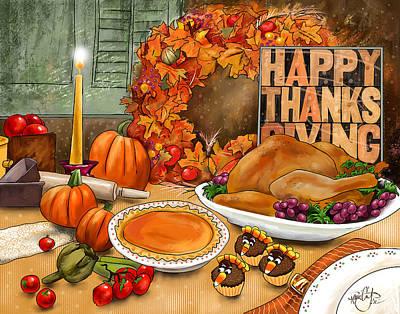 Artichoke Digital Art - Thanksgiving 2013 by Renee Ciufo