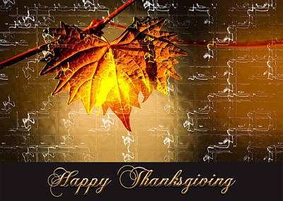 Art Print featuring the photograph Thanksgiving Card by Carolyn Marshall